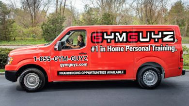 A GYMGUYZ van carries all the tools needed for a good workout. (Courtesy of GYMGUYZ)