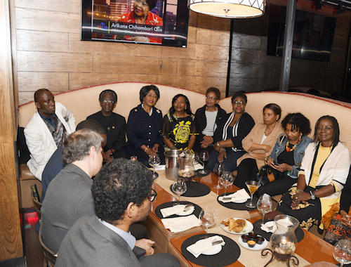 Former AU Ambassador to the United States Arikana Chihombori-Quao called for a unified Africa and France's prosecution during a farewell event on Friday, Nov. 1 at Swahili Village Bar and Grill in Beltsville, Maryland. (Anthony Tilghman/The Washington Informer)