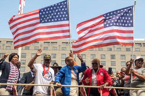 Supporters of D.C. statehood demonstrate for their cause. (WI file photo)