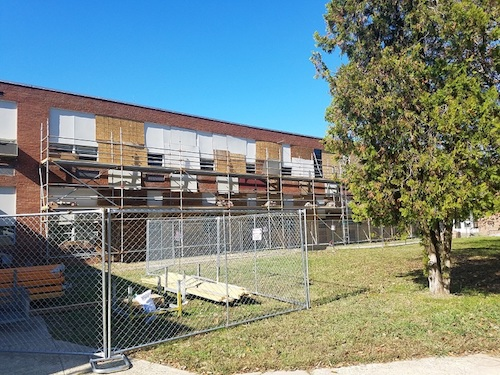 Renovations are underway on a portion of building at Forest Heights Elementary School. Maryland's political leadership announced a $2.2 billion public school construction proposal to present as legislation when the General Assembly convenes in January. (Anthony Tilghman/The Washington Informer)