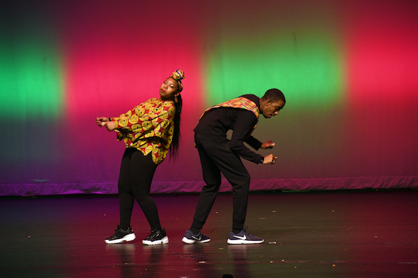 District of Columbia Ward 8 State Board of Education Representative Markus Batchelor dances with a student to compete for the William O. Lockridge Award at the Town Hall Education Arts Recreation Campus (THEARC) on Nov. 9. (Anthony Tilghman/The Washington Informer)