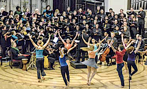 November concert showing full chorus, orchestra and dancers (Courtesy photo)