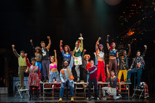 "The company of the ""Rent"" 20th anniversary tour at The National Theatre in D.C. on Nov. 12 (Courtesy of Amy Boyle)"