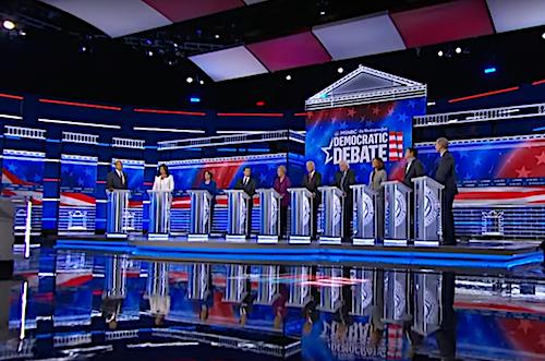 MSNBC and The Washington Post host a 2020 Democratic presidential debate at Tyler Perry Studios in Atlanta on Nov. 20.