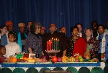 Dr. Maulana Karenga, the creator of the pan-African and African-American holiday Kwanzaa, during a celebration (Courtesy photo)