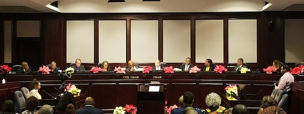 The Prince George's County Council holds its annual gavel exchange session on Dec. 3. (William J. Ford/The Washington Informer)