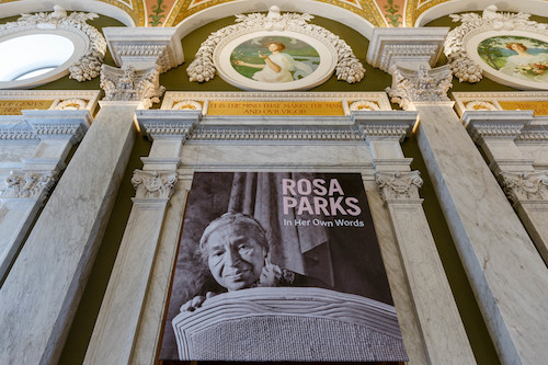 "The new ""Rosa Parks: In Her Own Words"" exhibit opened Dec. 5, 2019, and runs through September 2020. (Shawn Miller/Library of Congress)"