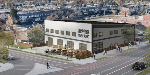 Benning Market will have a 7,000-square-foot food hall. (Courtesy of Neighborhood Development Company)