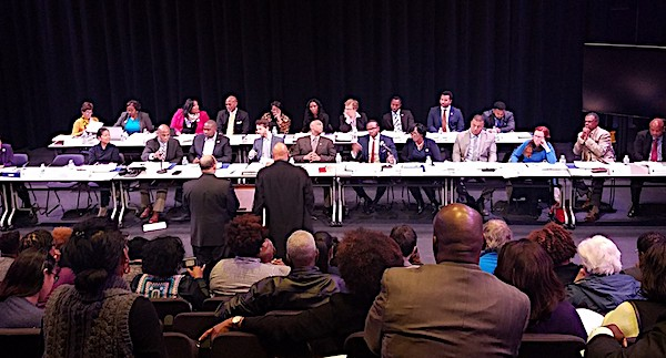 Members of Prince George's County House Delegation hold a public session at Prince George's Community College on Dec. 11 to discuss proposed legislation for the upcoming Maryland General Assembly. (William J. Ford/The Washington Informer)