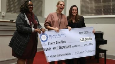 Photo of D.C. EDUCATION BRIEFS: Milken Award Winner