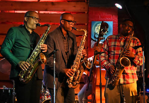 From left: Marshall Keys, Paul Carr and Lionel Lyles perform in September. (Courtesy of Eva Hambach)