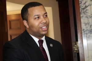 Del. Julian Ivey (D-District 47A) of Cheverly talks about the proposed Kirwan Commission education plan on the House of Delegates floor in Annapolis on Jan. 8. (Brigette Squire/The Washington Informer)