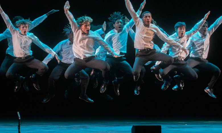 Dem Raider Boyz Step Squad from Eleanor Roosevelt High School in Greenbelt, Maryland, perform in Step Xplosion at the Music Center in Strathmore in North Bethesda on Jan. 12. (Shevry Lassiter/The Washington Informer)