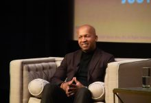 """Bryan Stevenson, author of """"Just Mercy,"""" a true story, during a discussion and screening of the movie at the Smithsonian Institute's National Museum of African American History and Culture in D.C. on Jan. 11. (Shevry Lassiter/The Washington Informer)"""