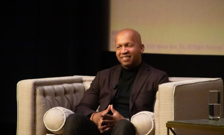 "Bryan Stevenson, author of ""Just Mercy,"" a true story, during a discussion and screening of the movie at the Smithsonian Institute's National Museum of African American History and Culture in D.C. on Jan. 11. (Shevry Lassiter/The Washington Informer)"