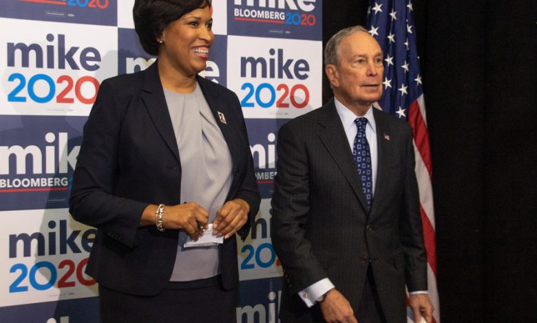 Mayor Bowser and Michael Bloomberg