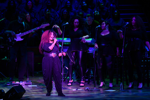 Chaka Khan performs with the Let Freedom Ring Choir at the Kennedy Center's annual Let Freedom Ring concert in honor of Martin Luther King Jr. on Jan. 20. (Courtesy of Georgetown University)