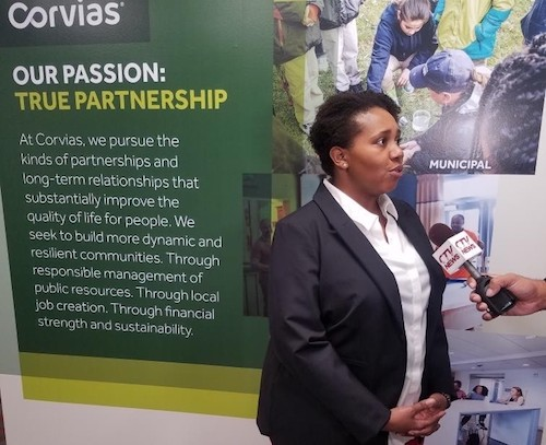 Corvias Partnership liaison Keisha Brown said the program's goals are to support mentees' growth and success. (Courtesy of CWP)