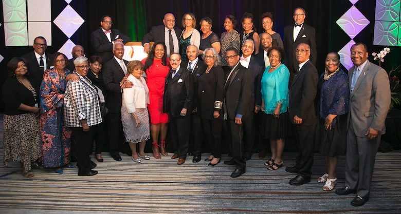 NNPA Chair and Houston Forward Times Publisher Karen Carter Richards (front row, in red dress) affirmed that the conference was a tremendous success. (Courtesy of NNPA Newswire)