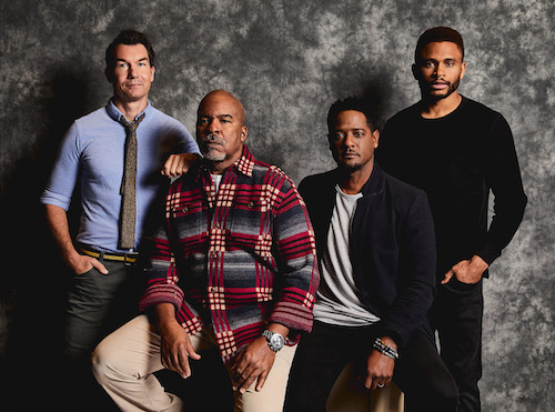 """From left: Jerry O'Connell, David Alan Grier, Blair Underwood and Nnamdi Asomugha star in the Roundabout Theatre Company production of """"A Soldier's Play."""" (Photo by Marc Franklin)"""