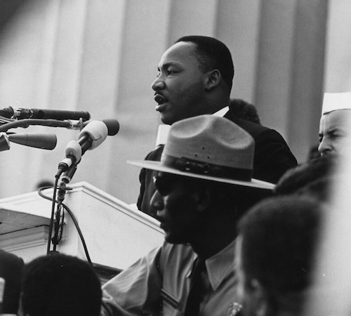 **FILE** Martin Luther King speaking at the Lincoln Memorial during the March on Washington on Aug. 28, 1963