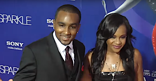 """Bobbi Kristina Brown (right) and Nick Gordon arrive at the premiere of Tri-Star Pictures' """"Sparkle"""" at Grauman's Chinese Theatre in Hollywood, California, on Aug. 16, 2012."""