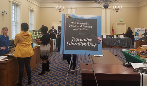 Members of The Cannabis Patient Advocacy Association host a Legislative Education Day in Annapolis on Feb. 6. (William J. Ford/The Washington Informer)
