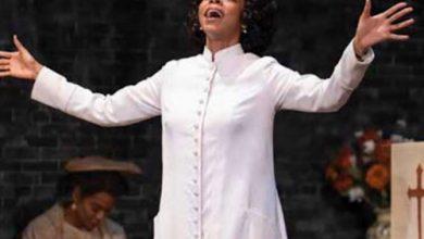 """Deidra LaWan Starnes stars as Sister Boxer in """"The Amen Corner."""" (Courtesy of Shakespeare Theatre Company)"""
