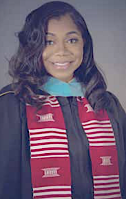 Jasmine Brooks, with undergraduate and graduate degrees from two PWIs, says that not attending an HBCU did not impede her success. It did, however, force her to both seek and sometimes create support systems she deemed necessary to complete each institution's academic requirements and receive her diploma. (Courtesy photo)