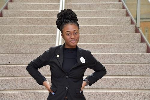 Helena Eshun of Central High School (Anthony Tilghman/The Washington Informer)