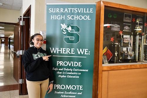 Ja-Kyra White of Surrattsville High School (Anthony Tilghman/The Washington Informer)