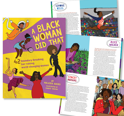 """""""A Black Woman Did That"""" by Malaika Adero features short stories on 42 prominent Black women and their accomplishments. (Courtesy of Downtown Bookworks)"""