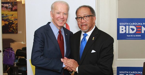 Former Vice President Joe Biden (left) and NNPA President and CEO Benjamin F. Chavis Jr. (NNPA Newswire)