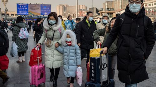 Travelers wear masks to prevent an outbreak of coronavirus. (Courtesy photo)