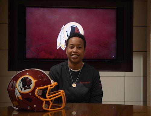 Jennifer King (Courtesy of the Washington Redskins)