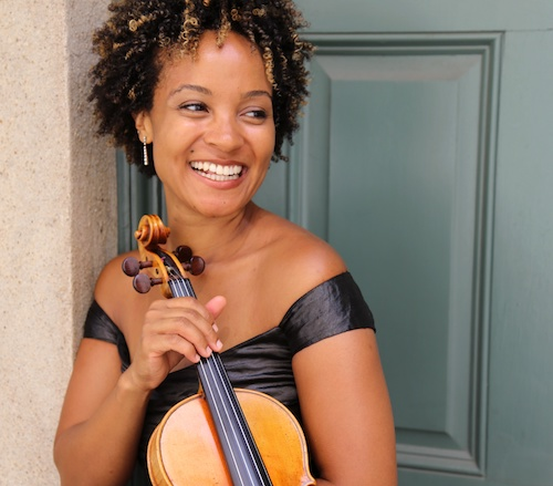 African-American violinist Melissa White joins the National Philharmonic Orchestra as a featured soloist in a Black History Month celebration of the music of four Black classical composers, including works by Wynton Marsalis and William Grant Still, at The Music Center at Strathmore on Saturday, Feb. 22. (Courtesy of Melissa White)