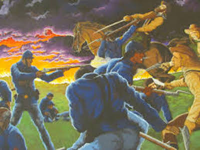 The Battle at Island Mound featured the first Black soldiers to fight in the Civil War. (Courtesy of Bates County Museum)