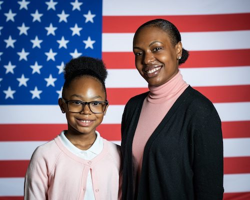 Stephanie and Janiyah Davis (Courtesy of the White House)