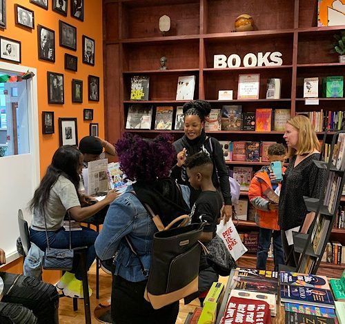 MahoganyBooks in southeast D.C., which carries a varied section of children's books, is headed into its third year of operations. (Courtesy of MahoganyBooks)