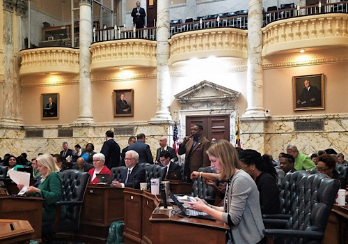 Members of the House of Delegates convene for a second session March 17 in Annapolis. (William J. Ford/The Washington Informer)