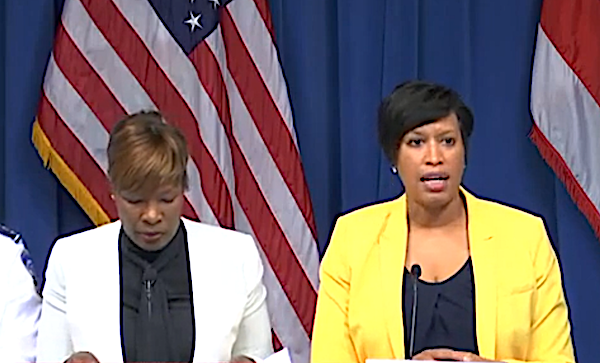 D.C. Mayor Muriel Bowser (right) speaks during a March 3 press conference on the coronavirus as Dr. LaQuandra S. Nesbitt, director of the D.C. Department of Health, listens.