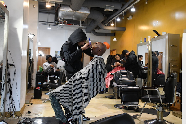 Marcus's Signature Cuts and Shaves Barber Shop in northwest D.C. (Roy Lewis/The Washington Informer)