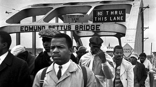 Rep. John Lewis in a vintage photo taken in Selma, Alabama (Courtesy of John Lewis via Twitter)