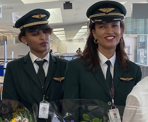 Ethiopian Airlines Flight ET500 crew included two female pilots. (DR Barnes/The Washington Informer)