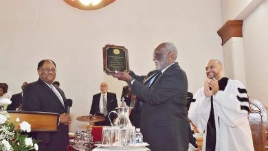 Photo of John Wesley AME Zion Church Pays Tribute to Salone T. Clary Sr.