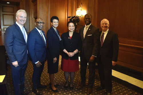 Members of Maryland Congressional Delegation with HBCU presidents (Robert R. Roberts/The Washington Informer)