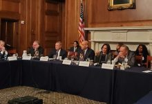 Photo of Booker, Harris Lead Roundtable Discussion on Issues Concerning African Americans