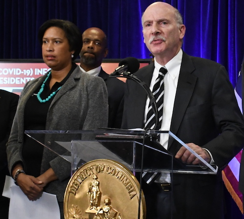 **FILE** D.C. Mayor Muriel Bowser (left) and Council Chair Phil Mendelson (Roy Lewis/The Washiington Informer)