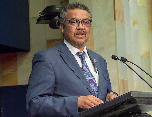 **FILE** Tedros Adhanom Ghebreyesus, director-general of the World Health Organization (International Telecommunication Union via Wikimedia Commons)