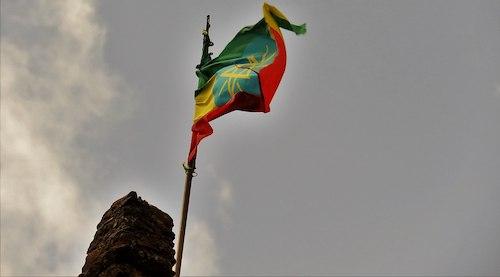 **FILE** Ethiopian flag at Gondar Castle (Chuck Moravec via Wikimedia Commons)